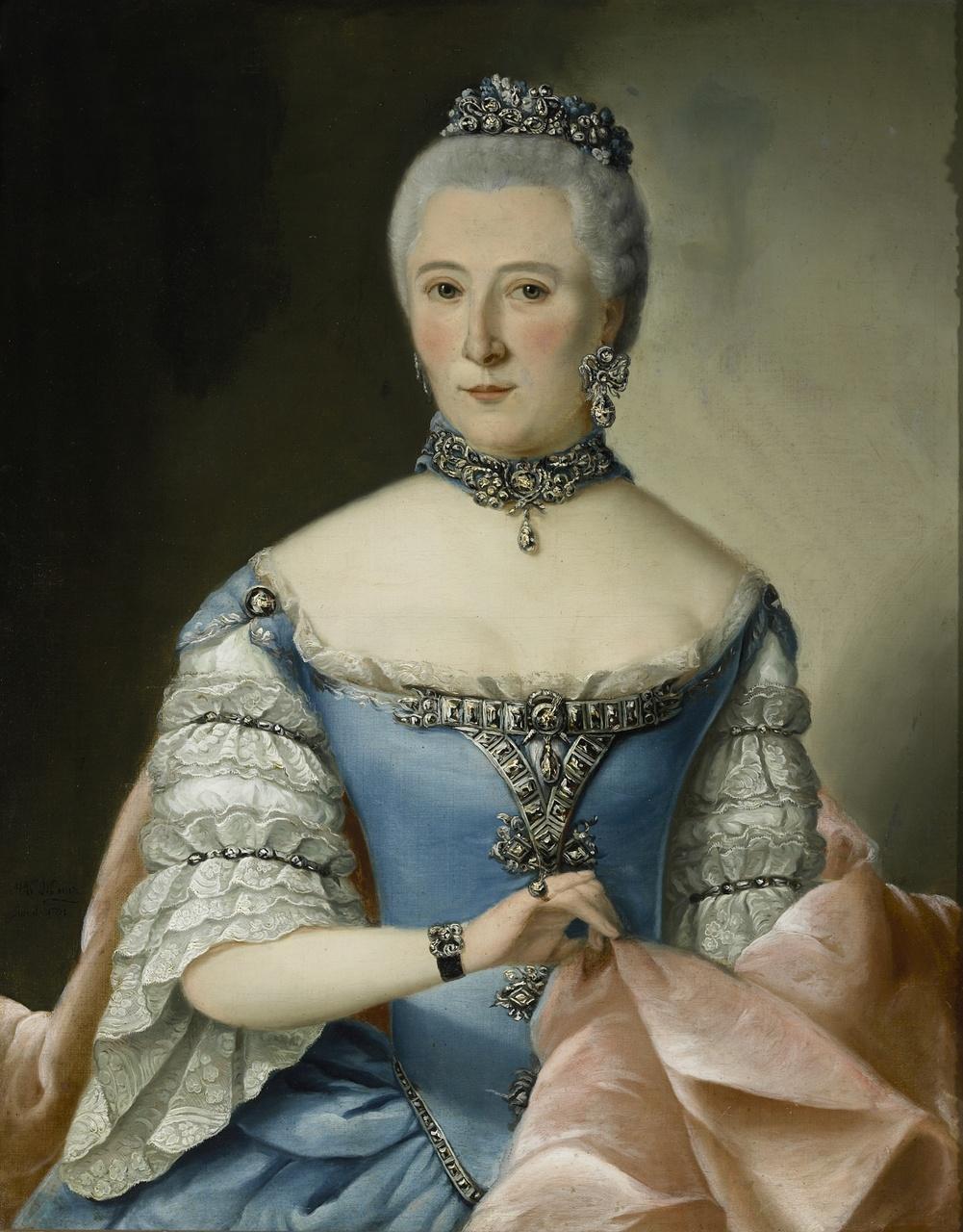 Echtgenote van Mr. M.C. Versluys, geboren Versluys (1723-1790), H.A.C.H. Baur