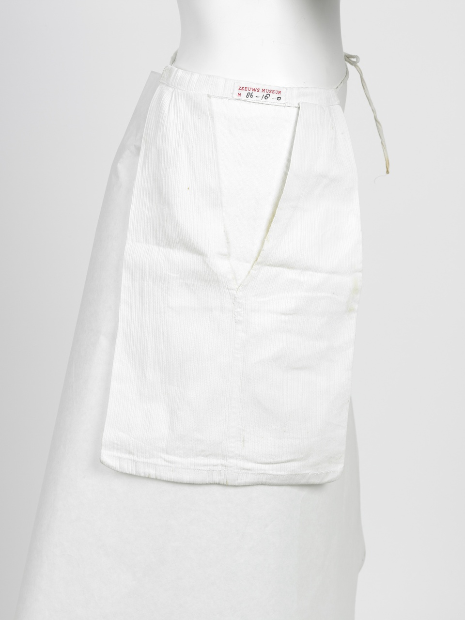 Witte rokzak met ingeweven streepje