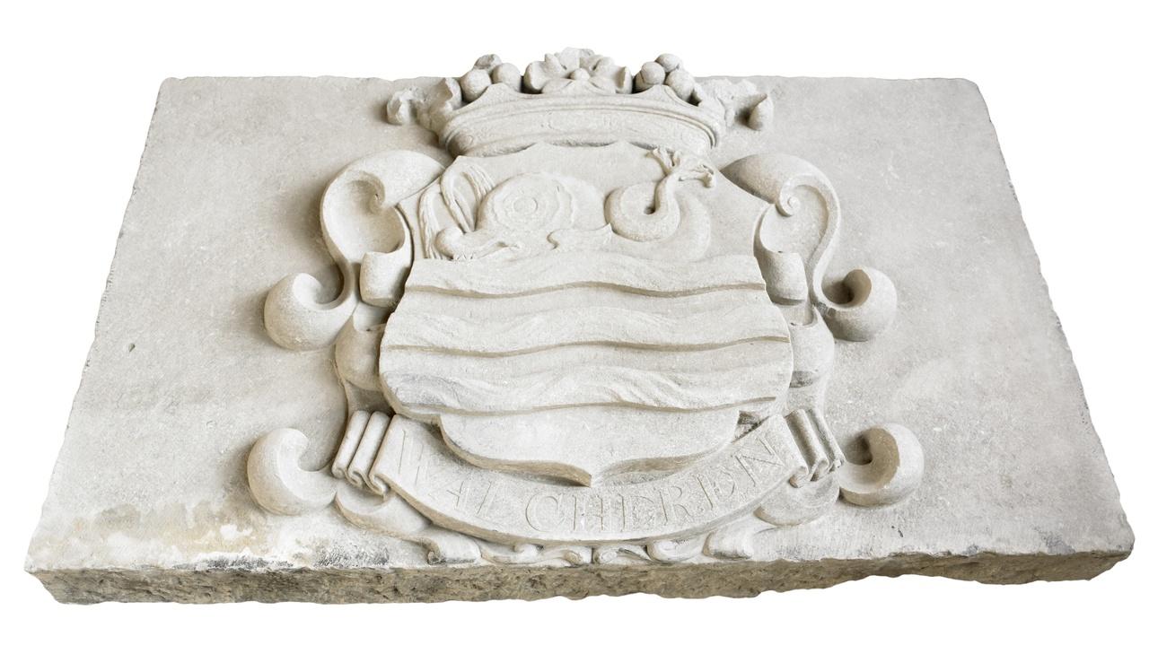Gevelsteen Dolphijn met inscriptie 'Walcheren'