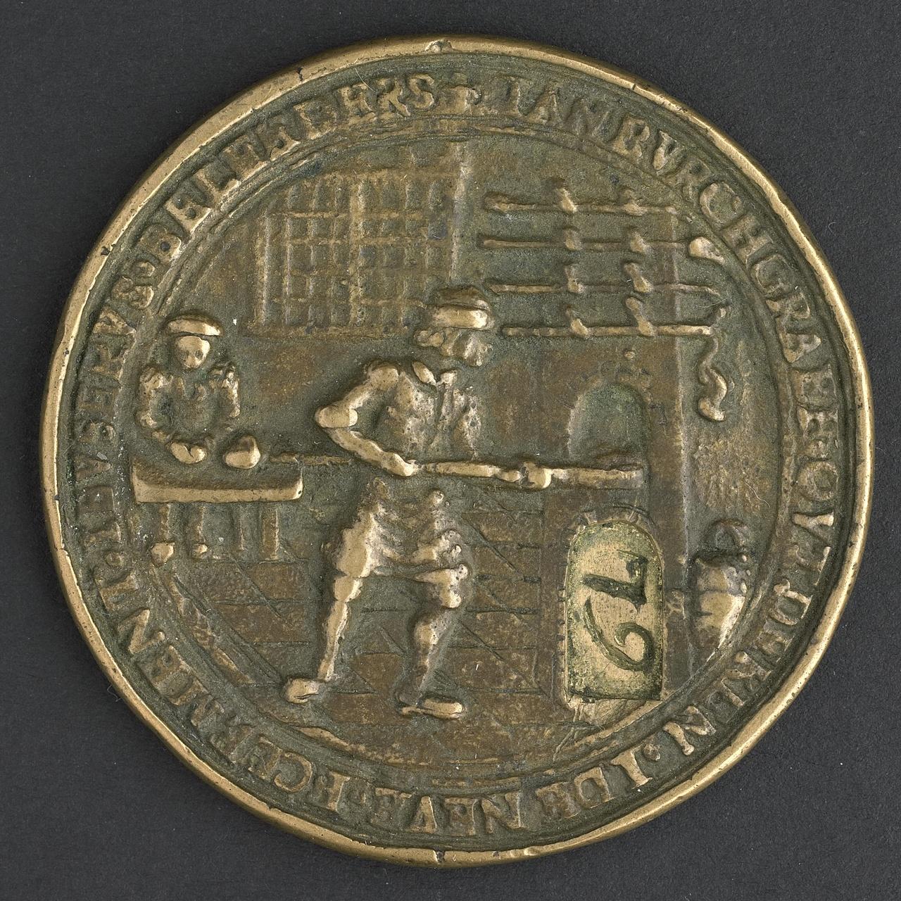 Gildepenning van het broodbakkersgilde te Middelburg 1656