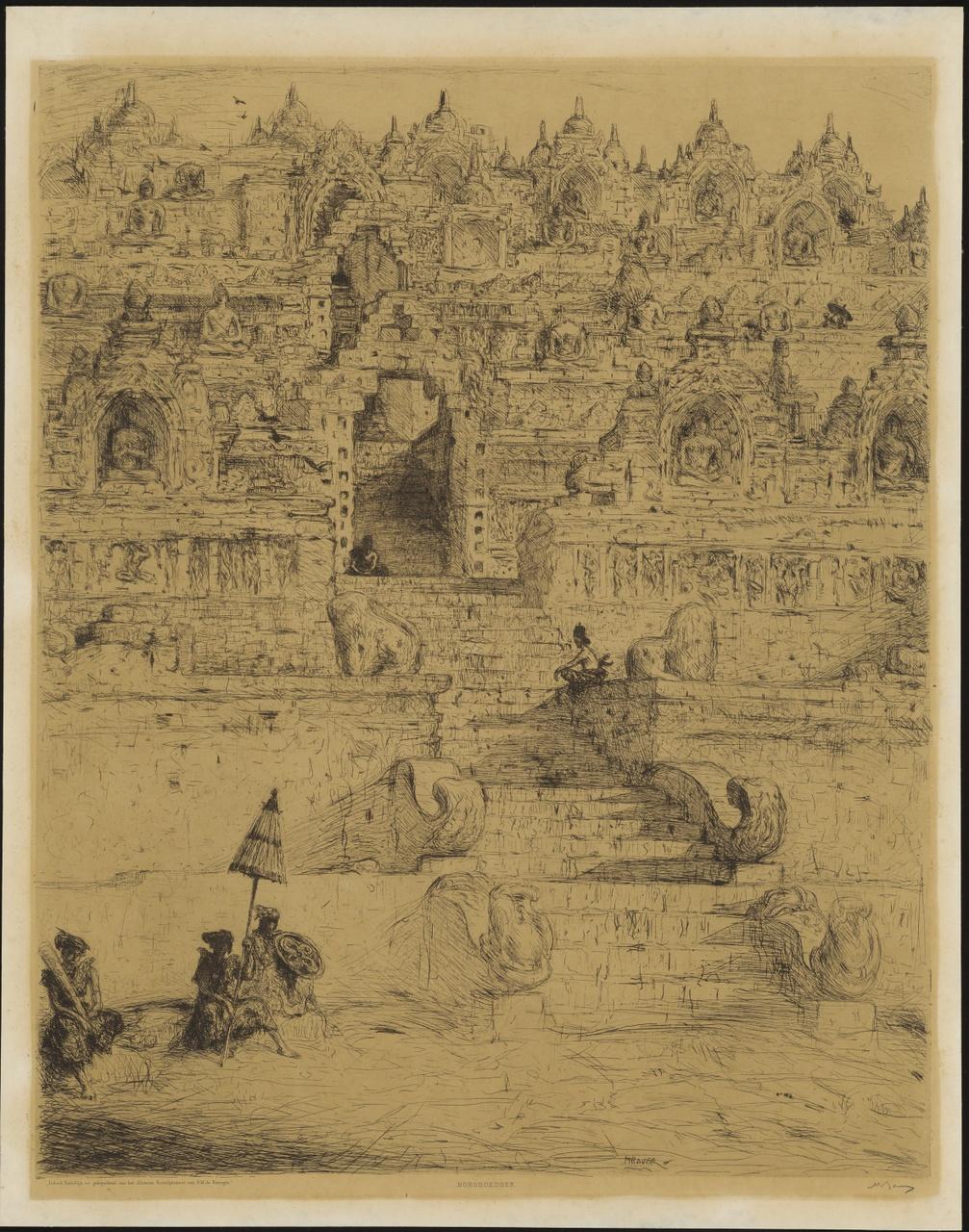 Boroboedoer, Indische huldeblijk ter gelegenheid van het zilveren Huwelijksfeest van H.M. de Koningin, Marius Bauer