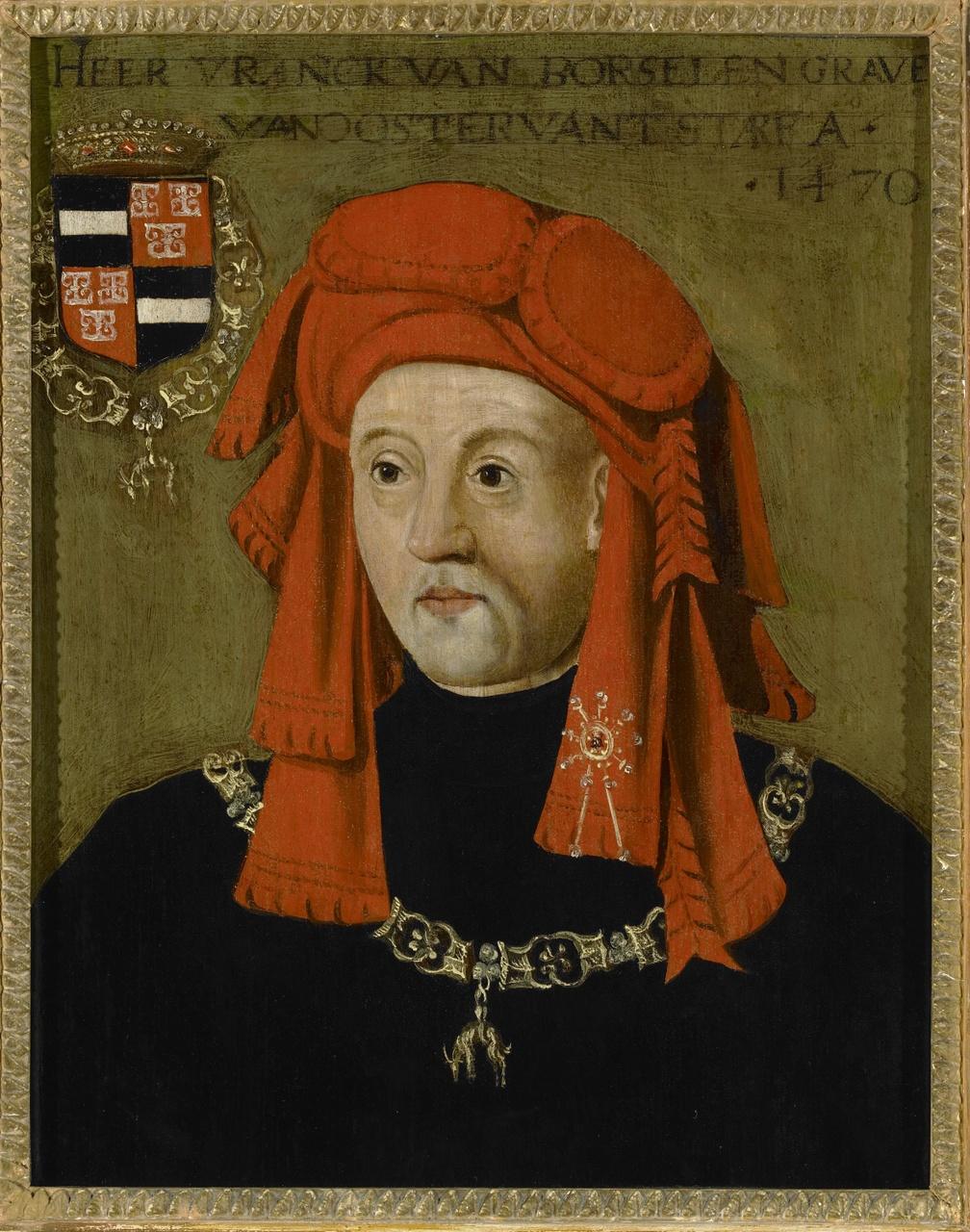 Portret van Frank van Borselen (ca. 1395-1470), 4e gemaal van Jacoba van Beyeren, Anoniem