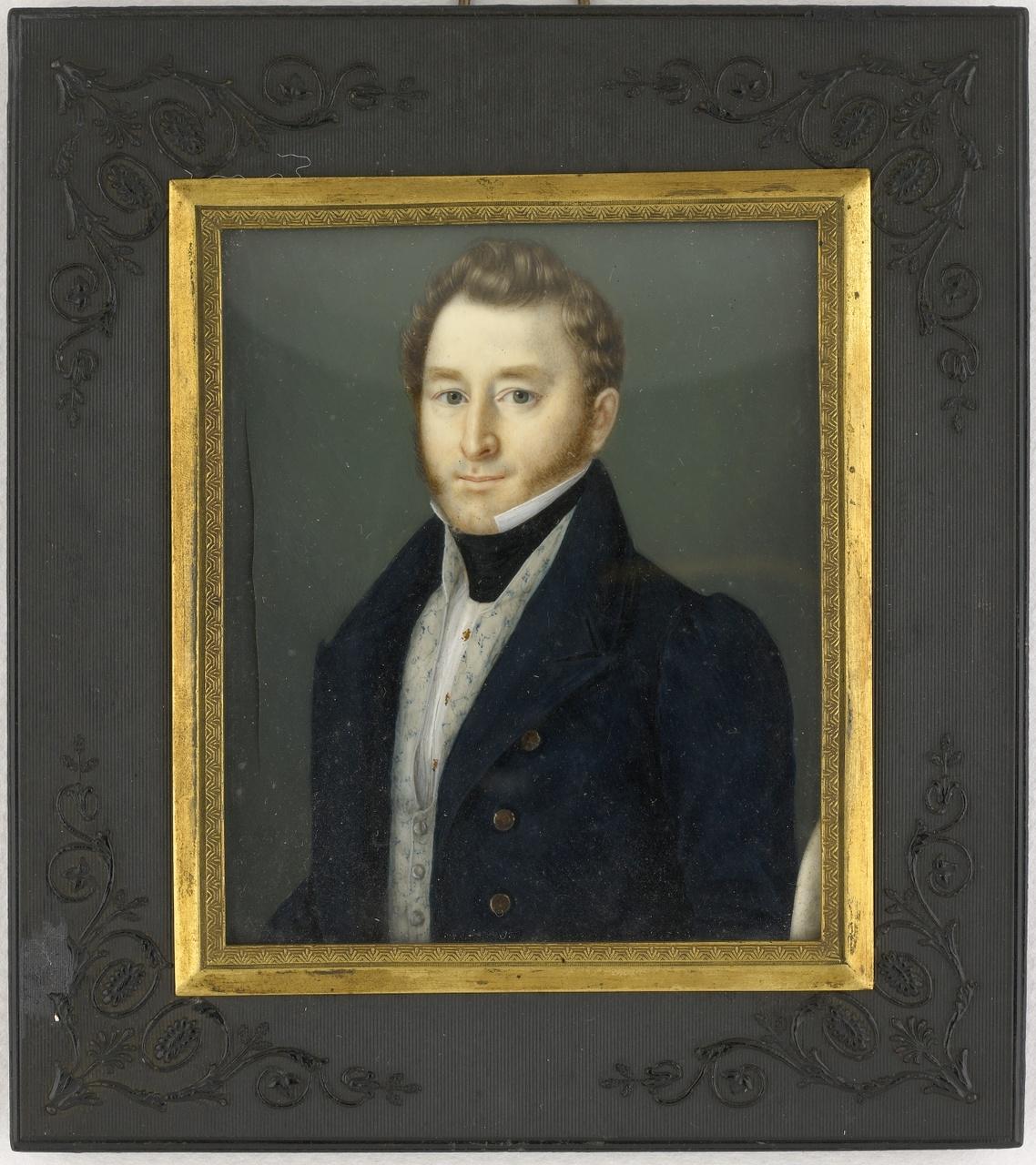 Miniatuurportret van Jhr. Pieter Damas van Citters I (1802-1888), Anoniem