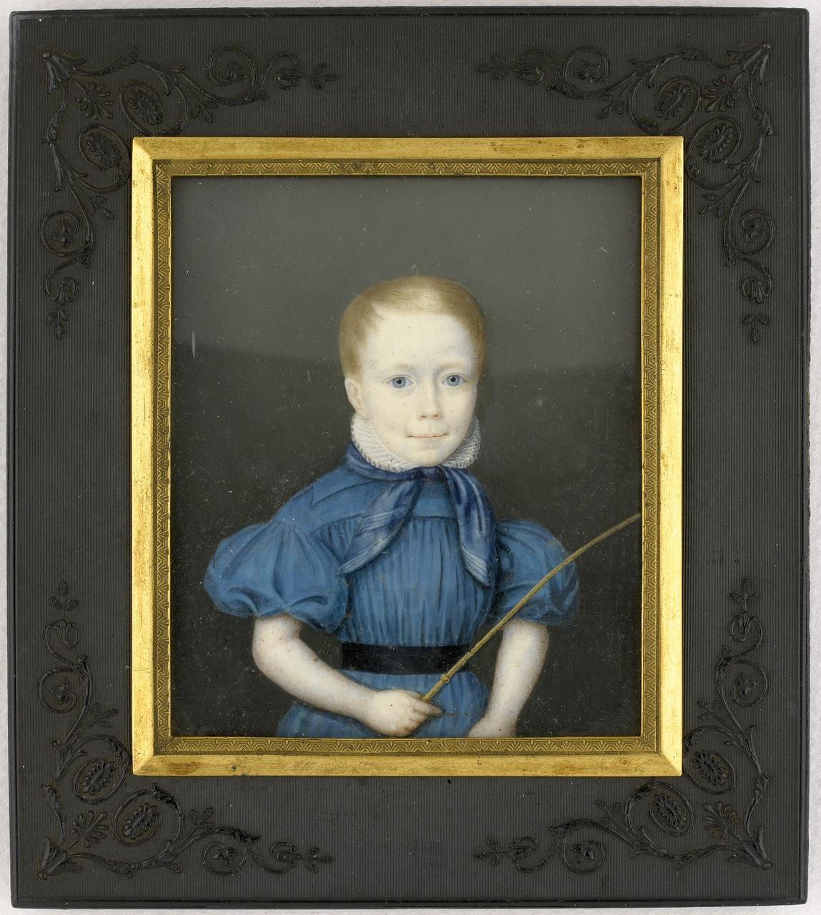 Miniatuurportret van Jhr. Pieter Damas van Citters II (1831-1904) als kind, Anoniem