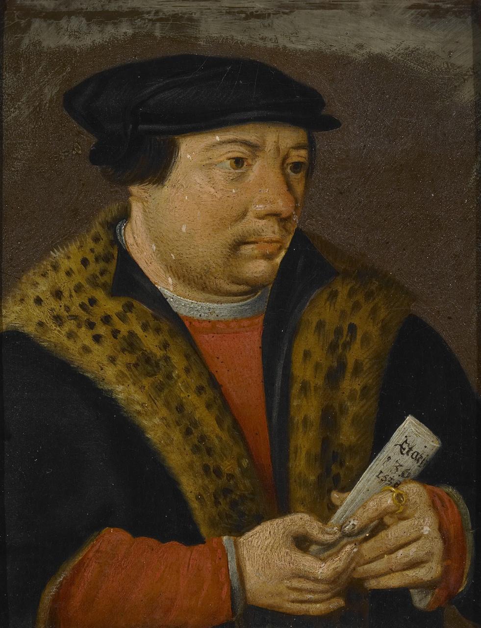 Portret van een onbekende man, Anoniem
