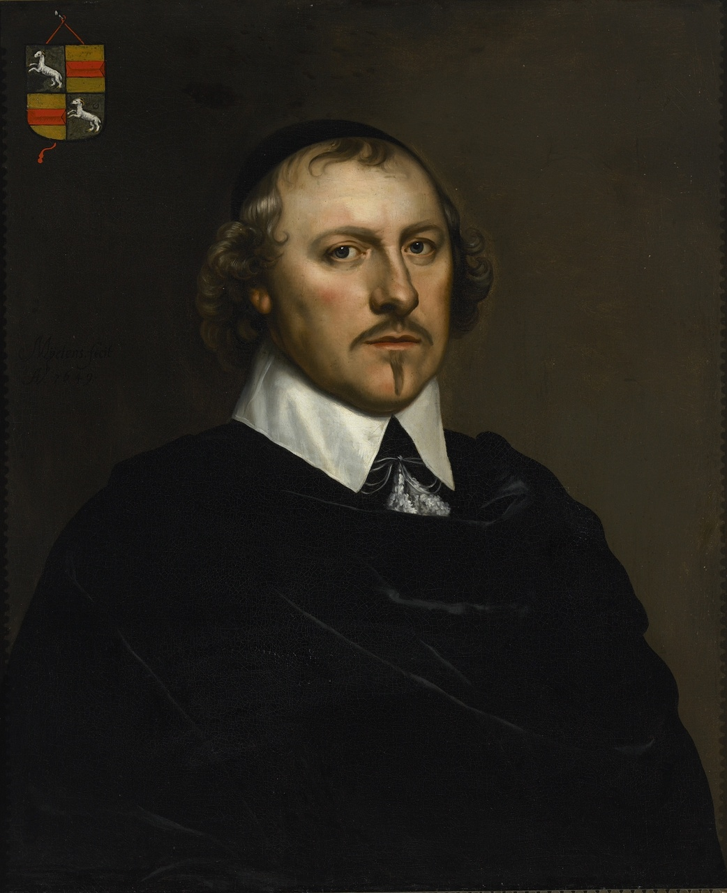 Portret van Gerrit Schaap Pzn. (1599-1655), Isaac Mytens