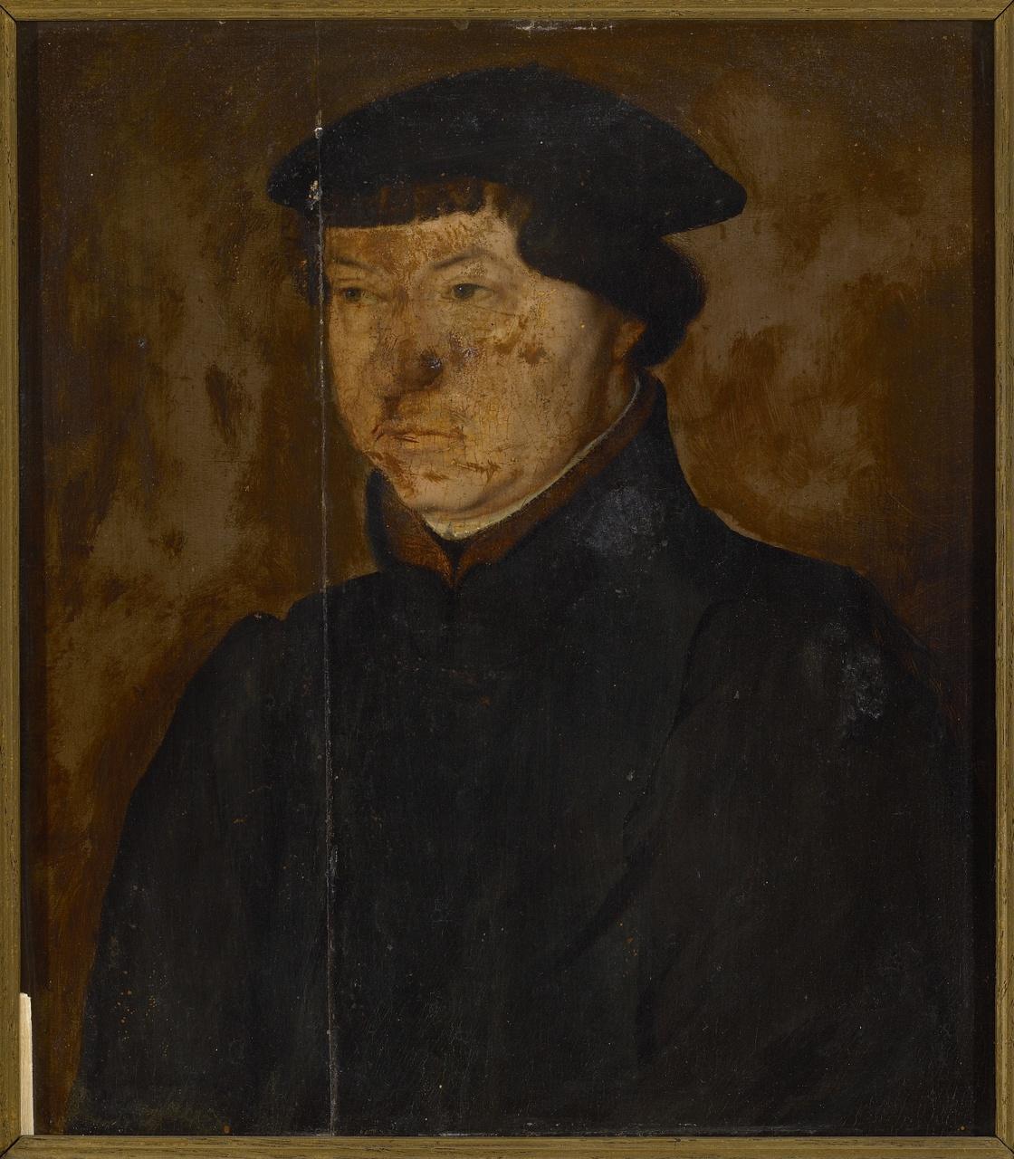 Portret van een onbekende heer, vroeger geïdentificeerd als Ulrich Zwingli, Anoniem