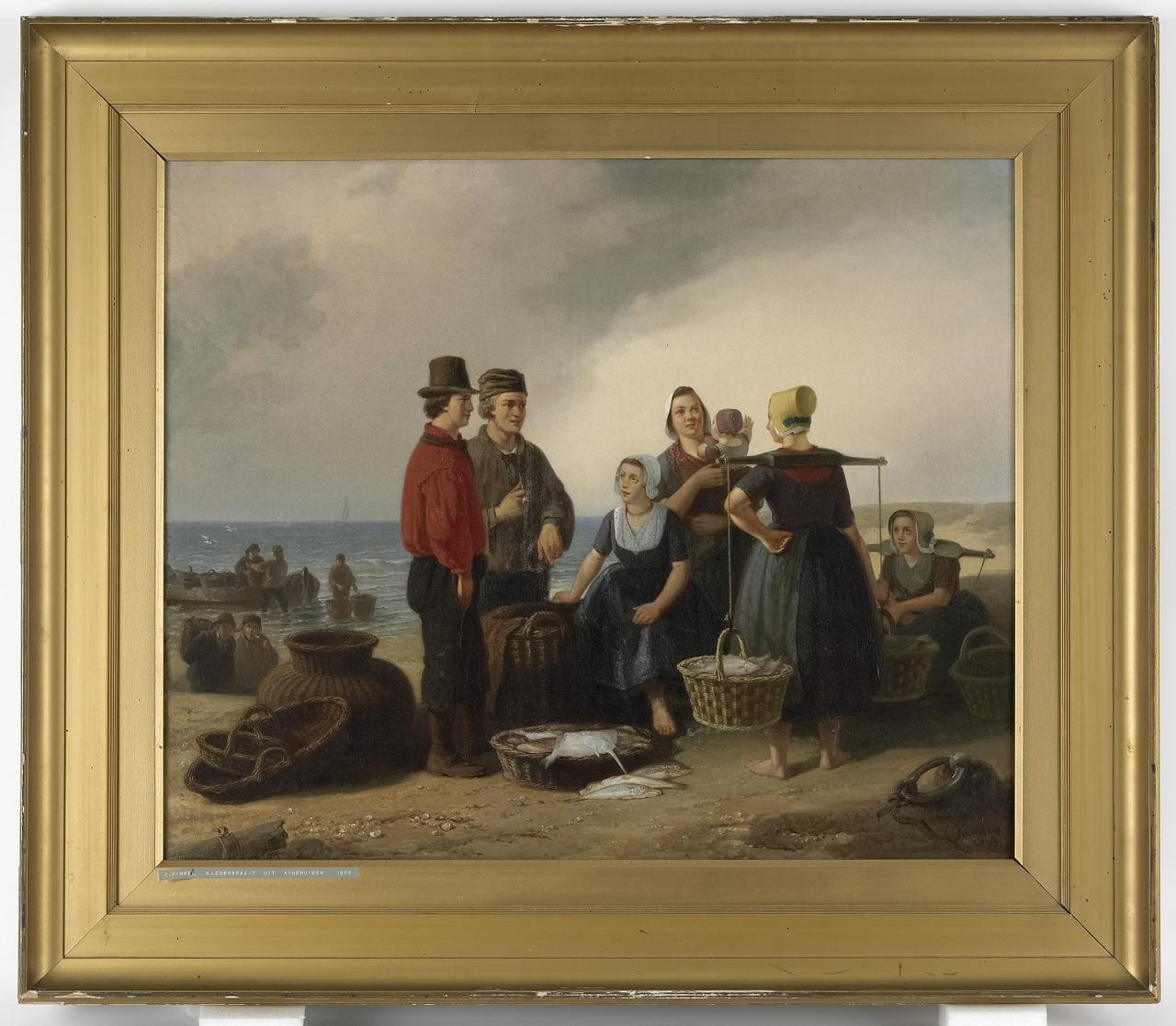 Visserslui aan het strand, Cornelis Kimmel
