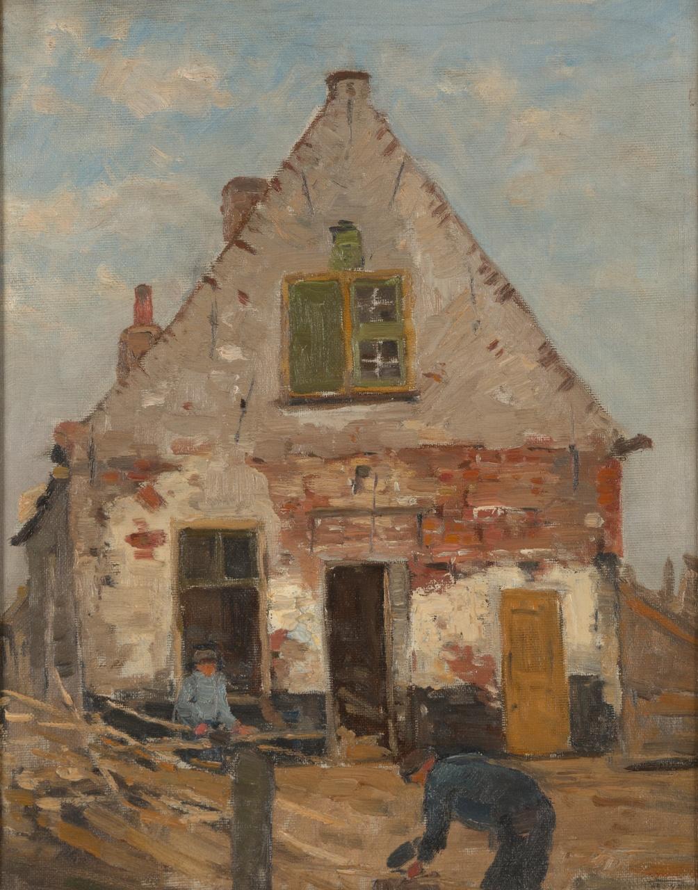 De restauratie van een huis in Middelburg, Willem Johannes Schütz
