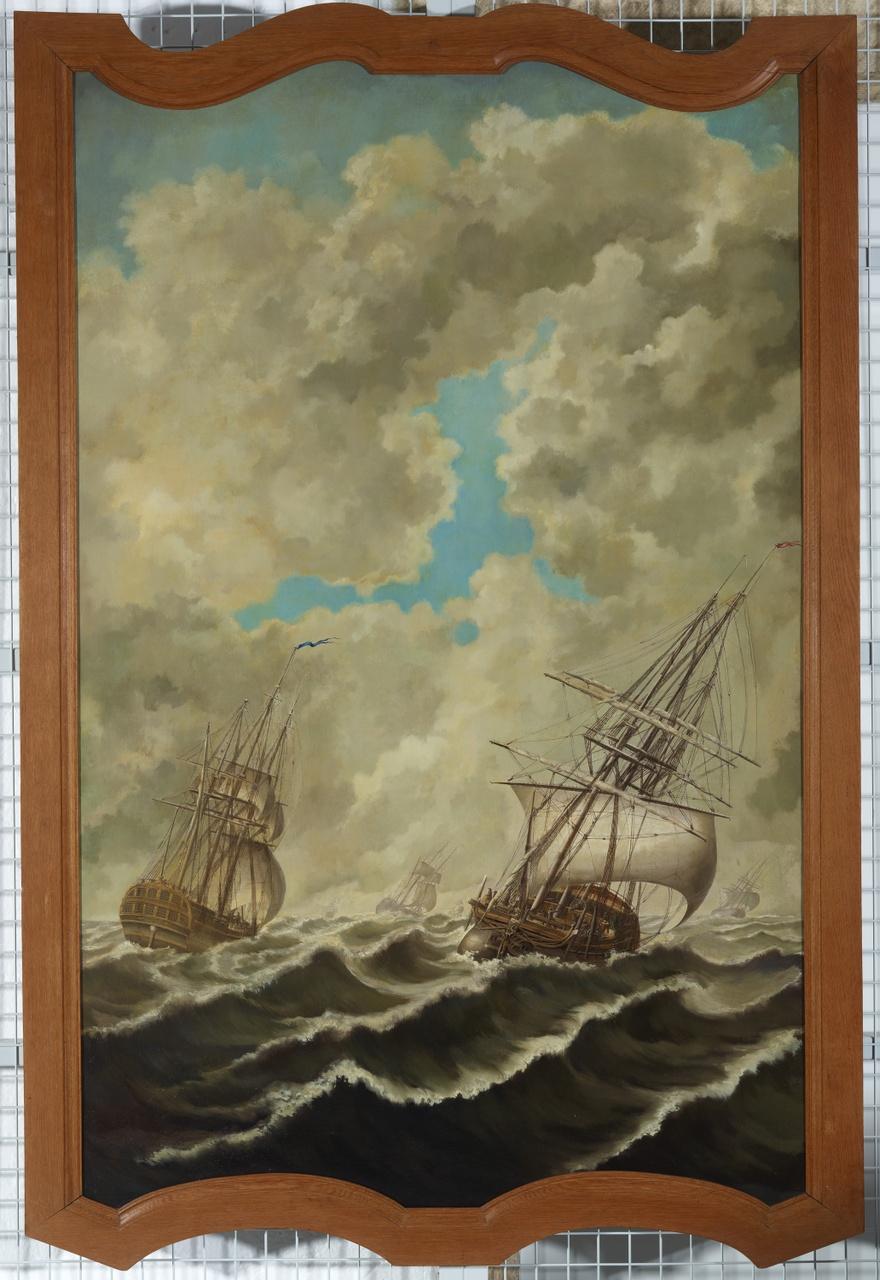 Het schip Willem Friso; schepen in de storm, Anoniem