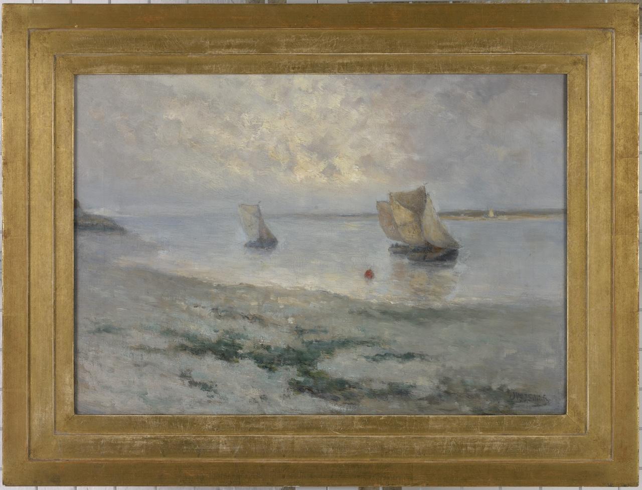 Hoogaarzen op weg naar Veere, Willem Johannes Schütz