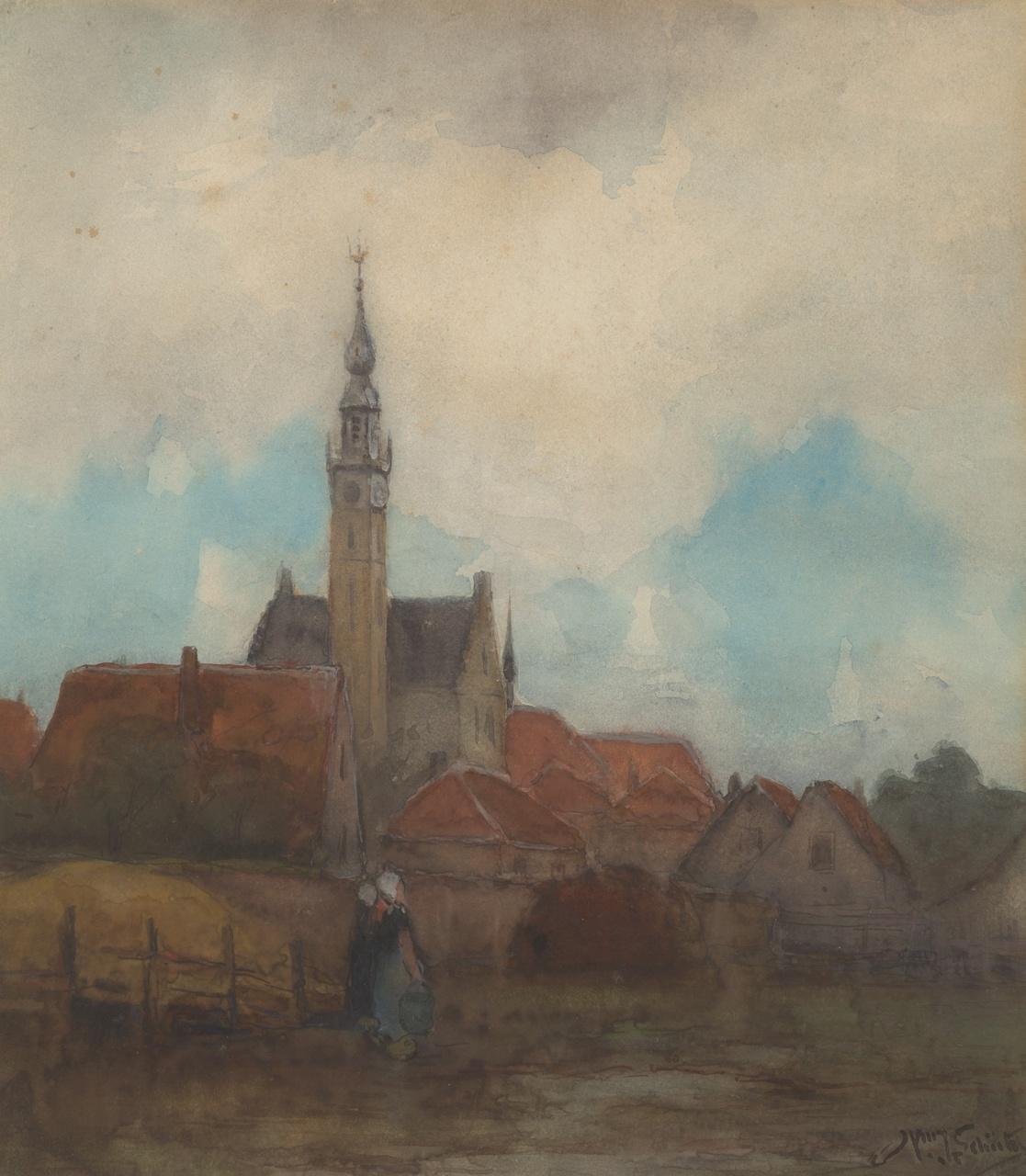 Torentje van het stadhuis van Veere, Willem Johannes Schütz