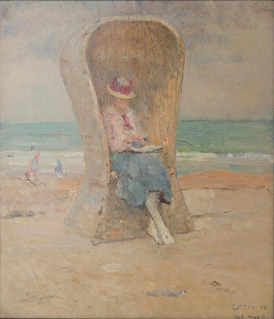 Ada in strandstoel, Maurice Góth