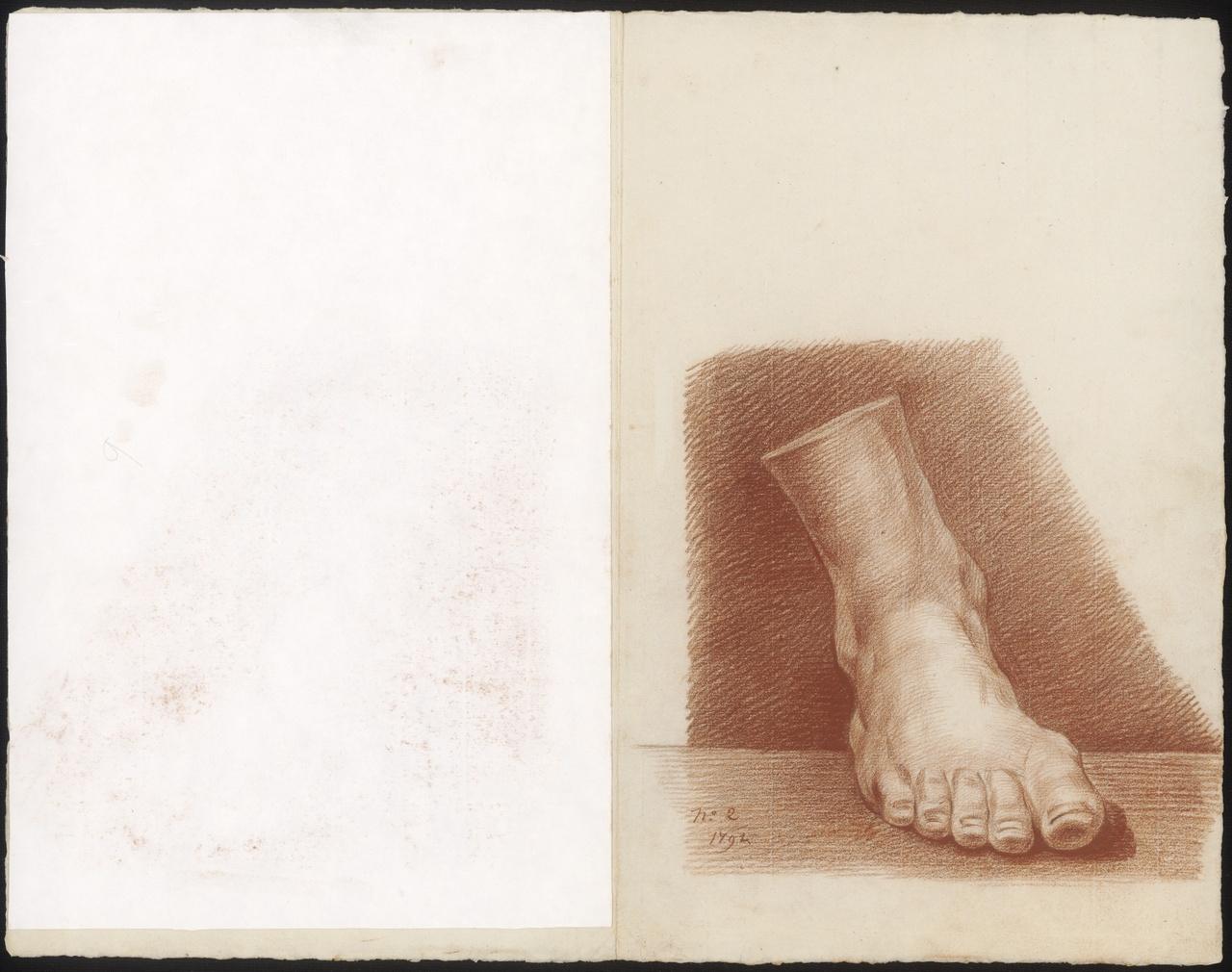 Vooraanzicht van een voet