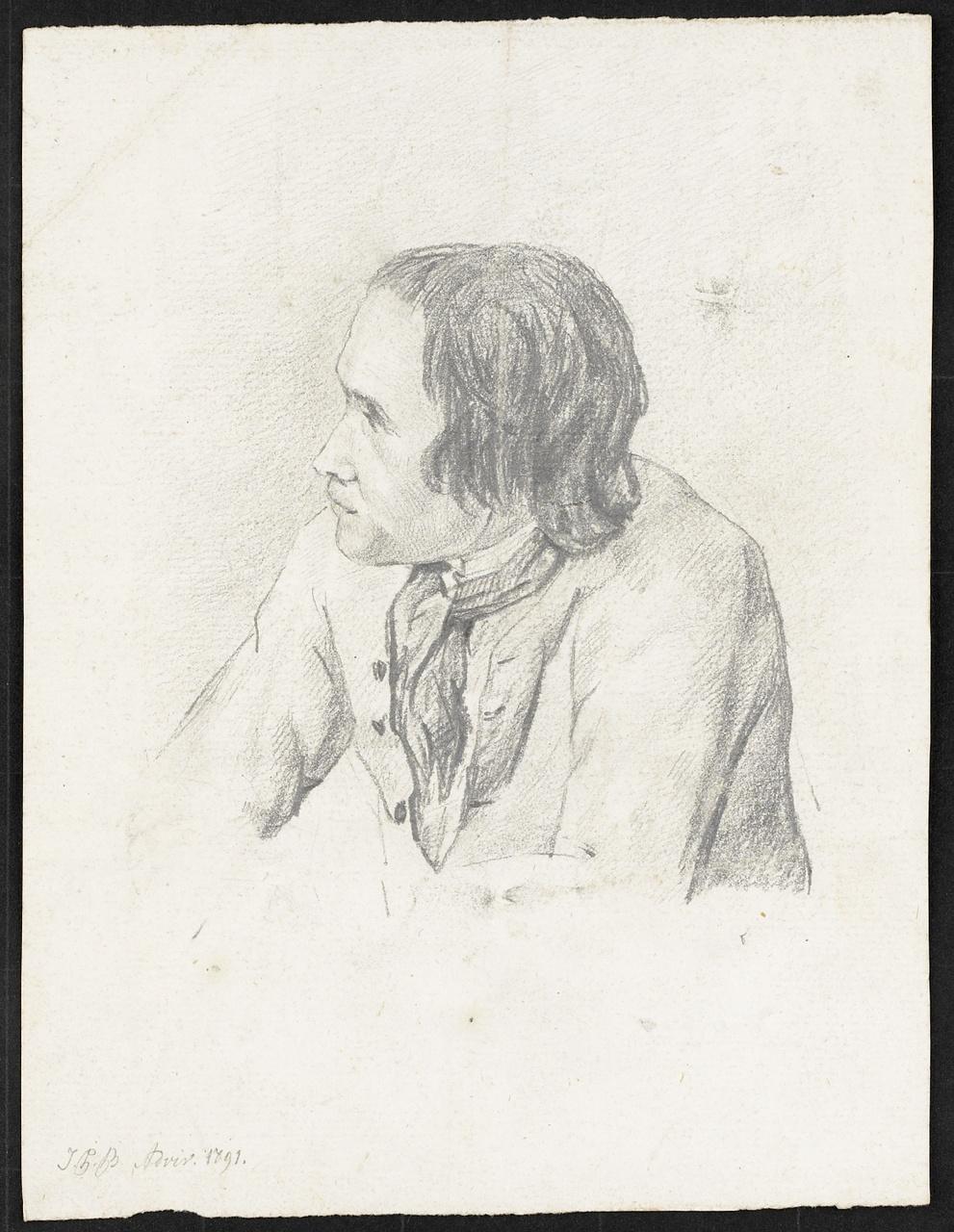 Studie van een man, Johan Pieter Bourjé