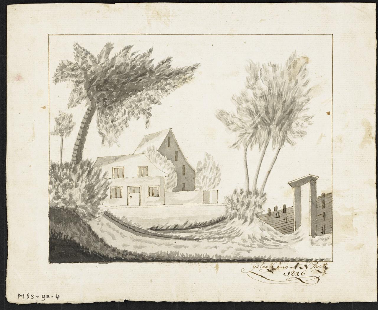 Gezicht op een boederij, A.N. Hoek
