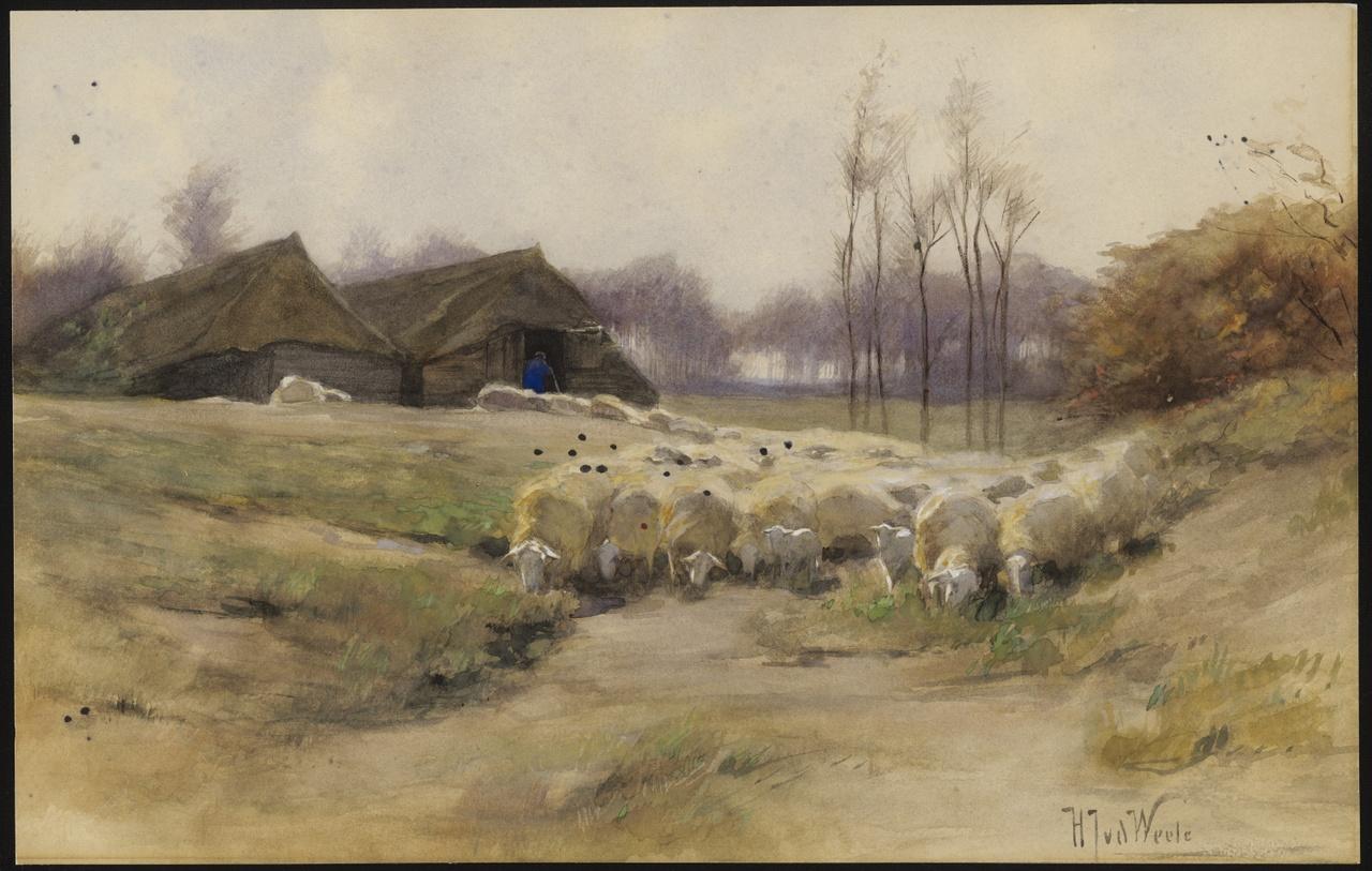 Bij de schaapskooi, Herman van der Weele