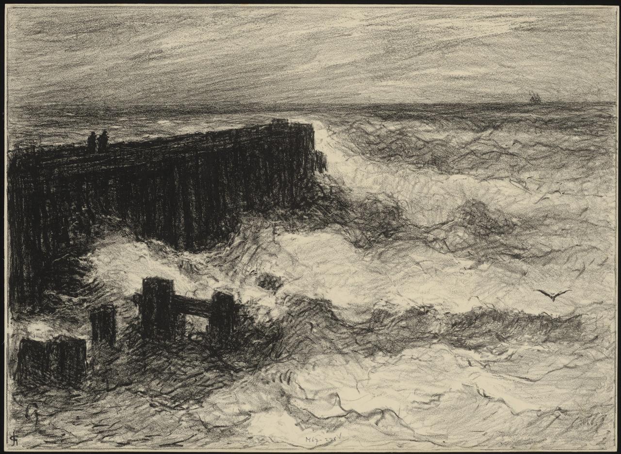 Stijgende zee bij Vlissingen, Carel Nicolaas Storm van 's-Gravesande