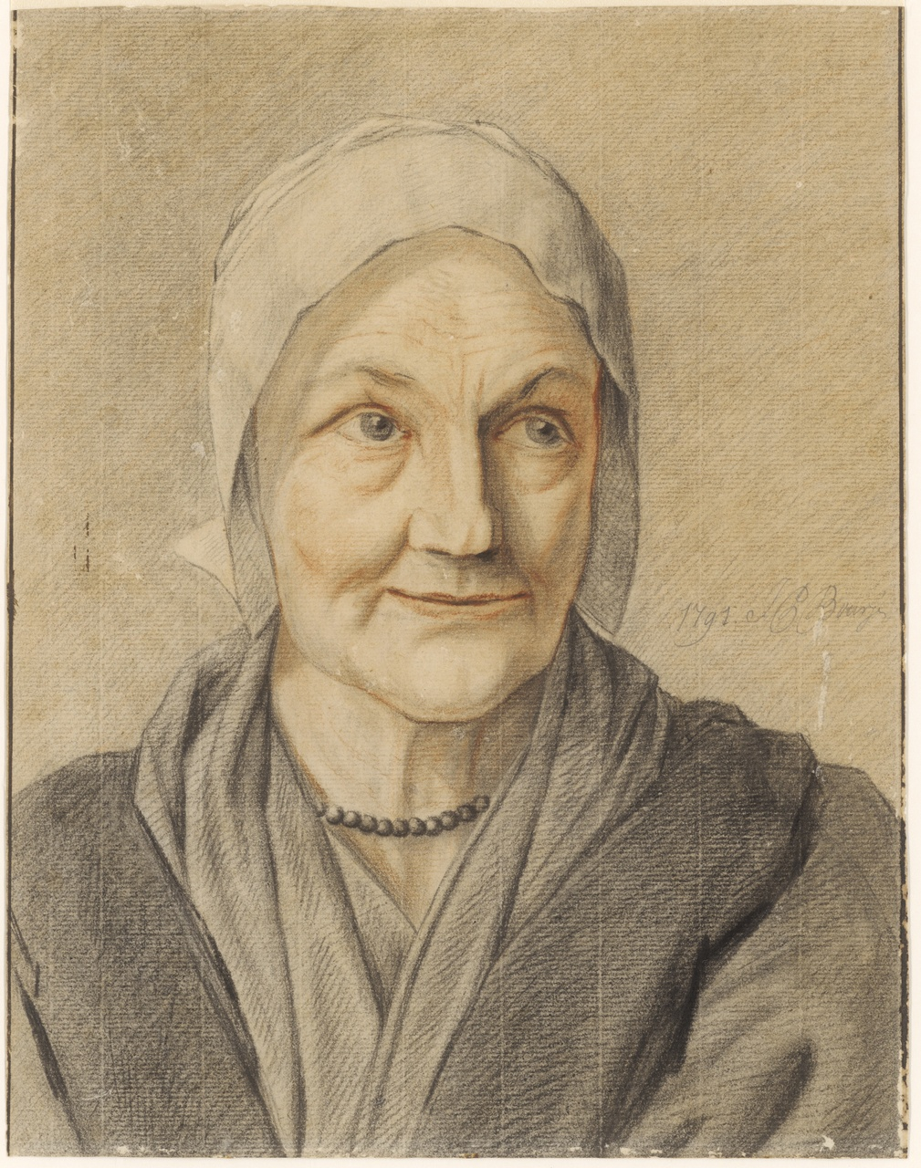 Studiekop van een vrouw, Johan Pieter Bourjé