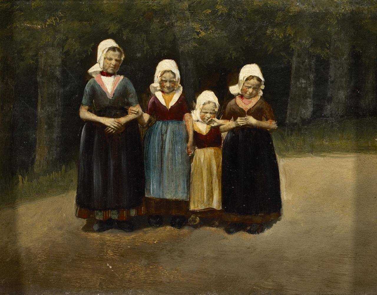 Vier Walcherse meisjes, Anoniem