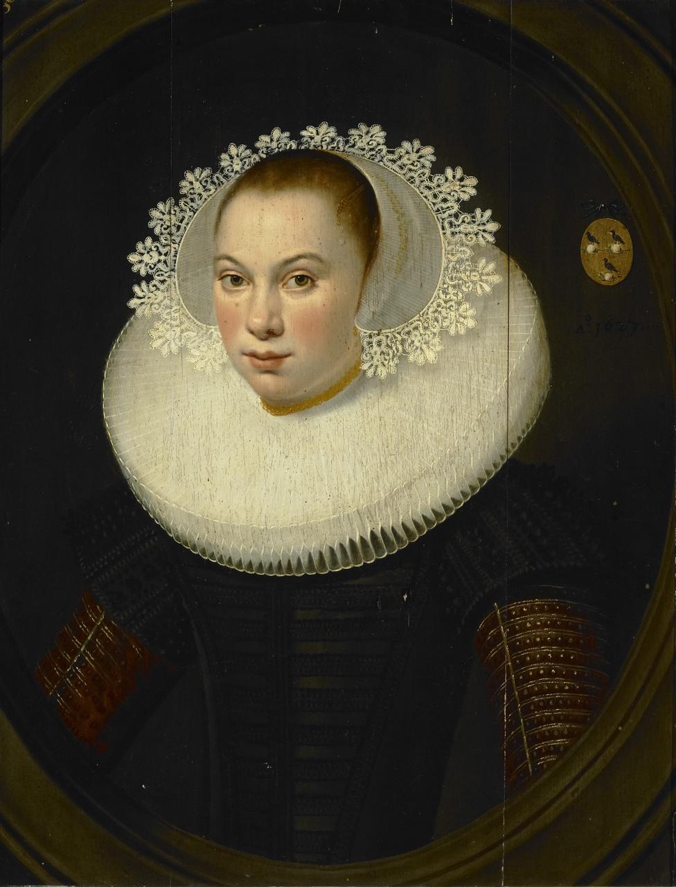 Portret van Anna de Looper (1611-1665), Salomon Mesdach