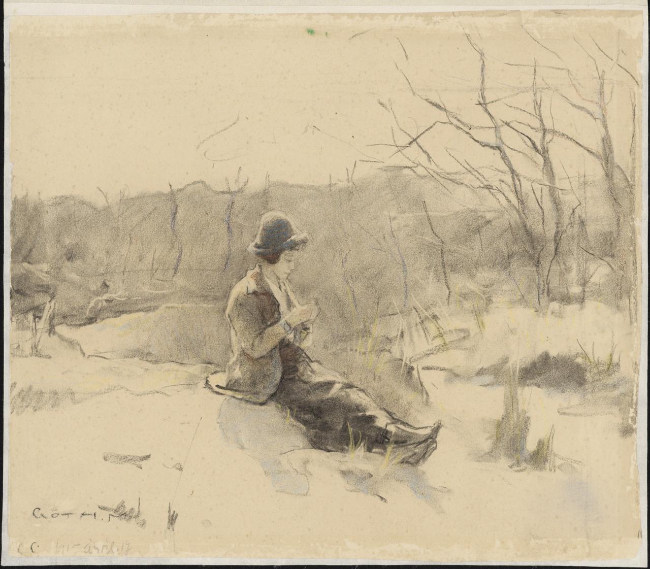 Ada Góth in de duinen bij Domburg, Maurice Góth