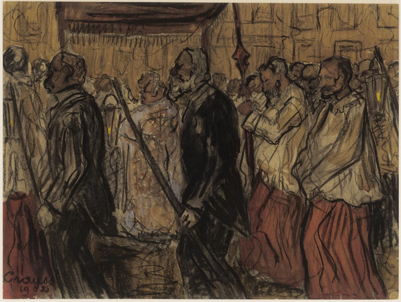 Processie, G.H. Grauss