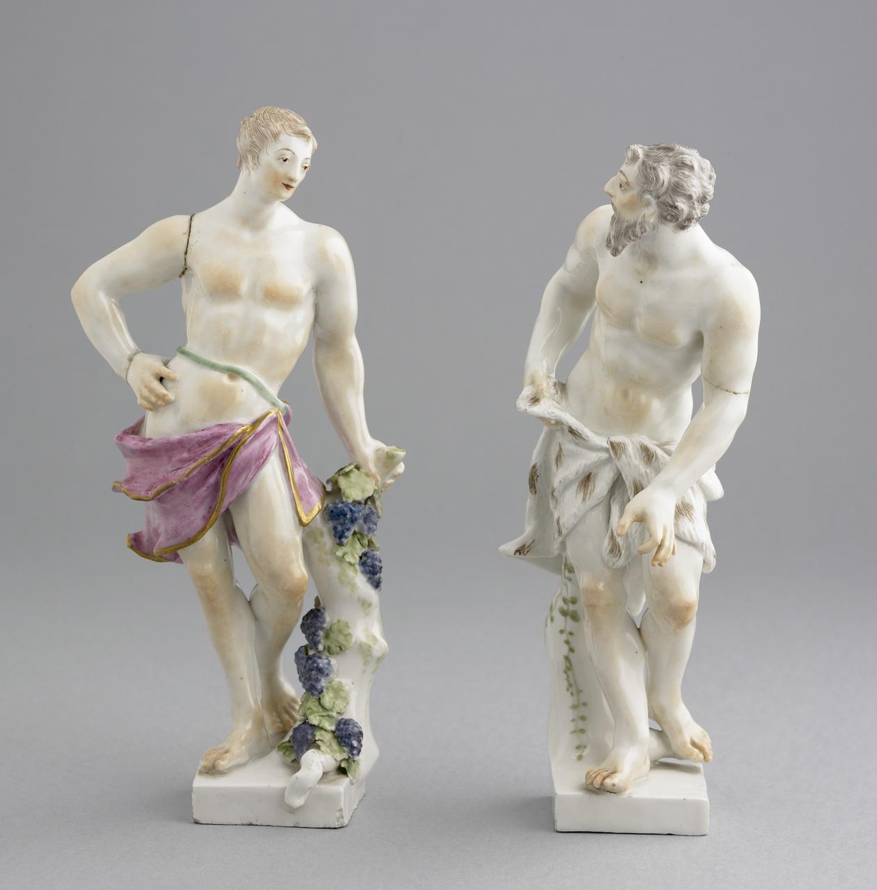 Beeldje van een oud mannenfiguur die volwassenheid symboliseert