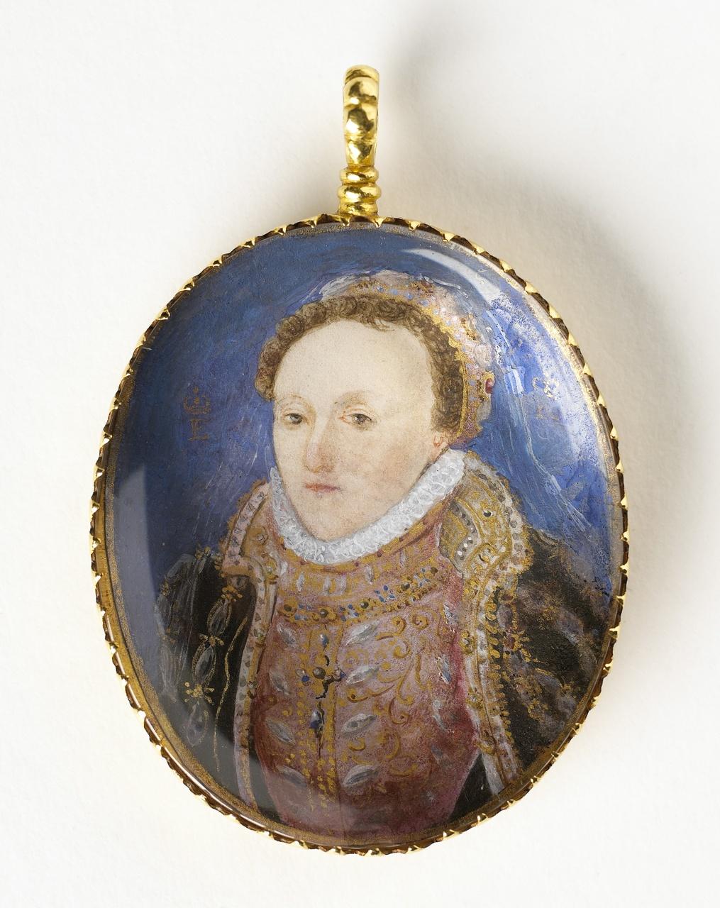 Medaillon met portret van koningin Elizabeth I van Engeland