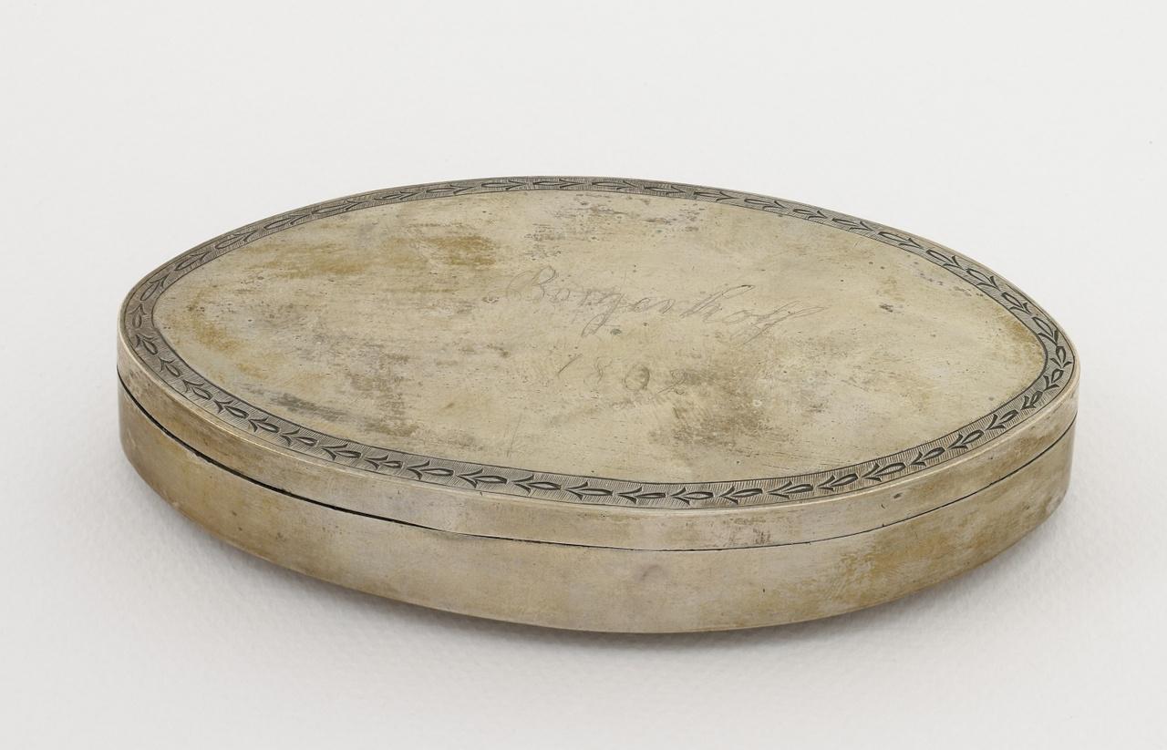 Tabaksdoos, zilver uit 1802