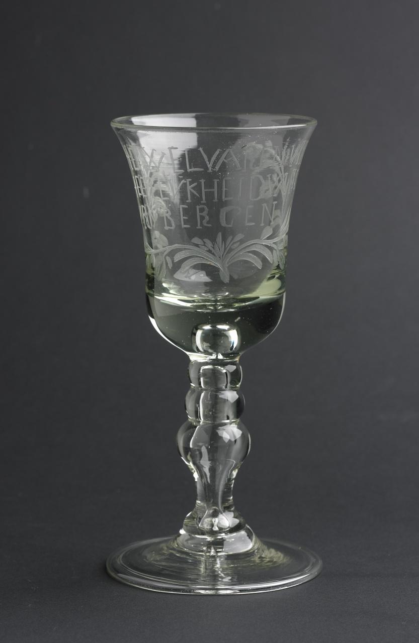 Kelkglas Het Welvaren van de Heerlijheid van Vrijbergen