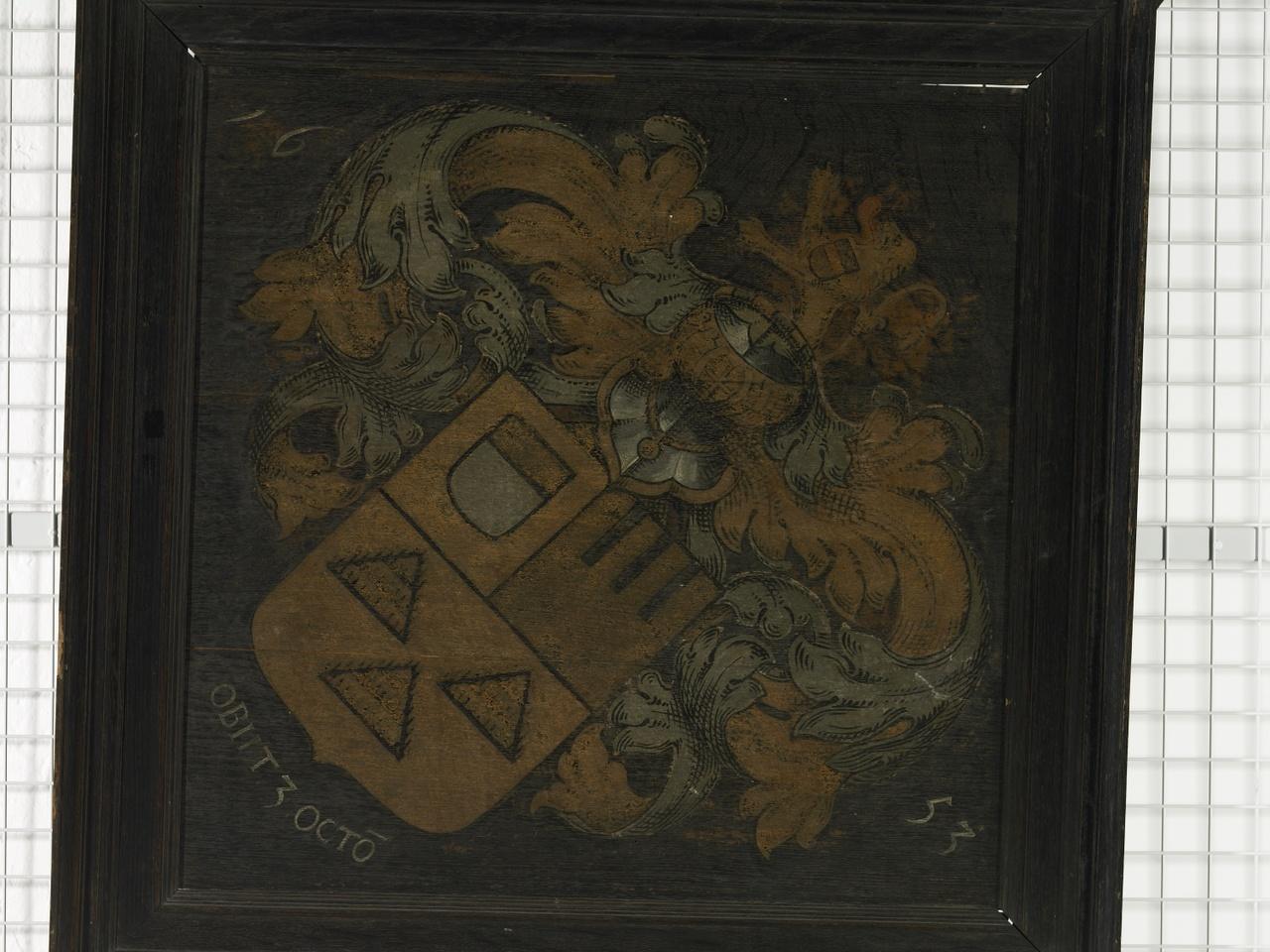 Wapenbord van Marcus Zuerius van Boxhorn (1616-1653), Anoniem