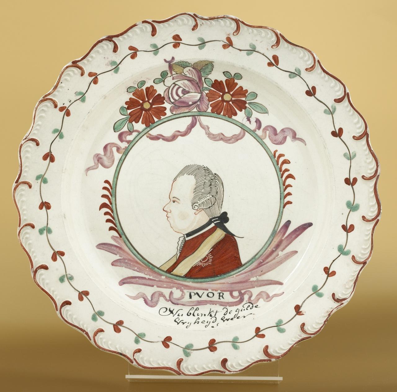 Bord met portret van Willem van Oranje