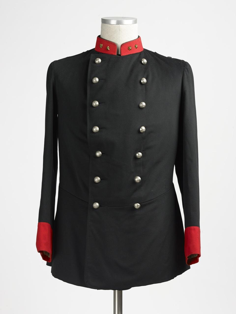 Jas van officiersuniform van de schutterij van Middelburg