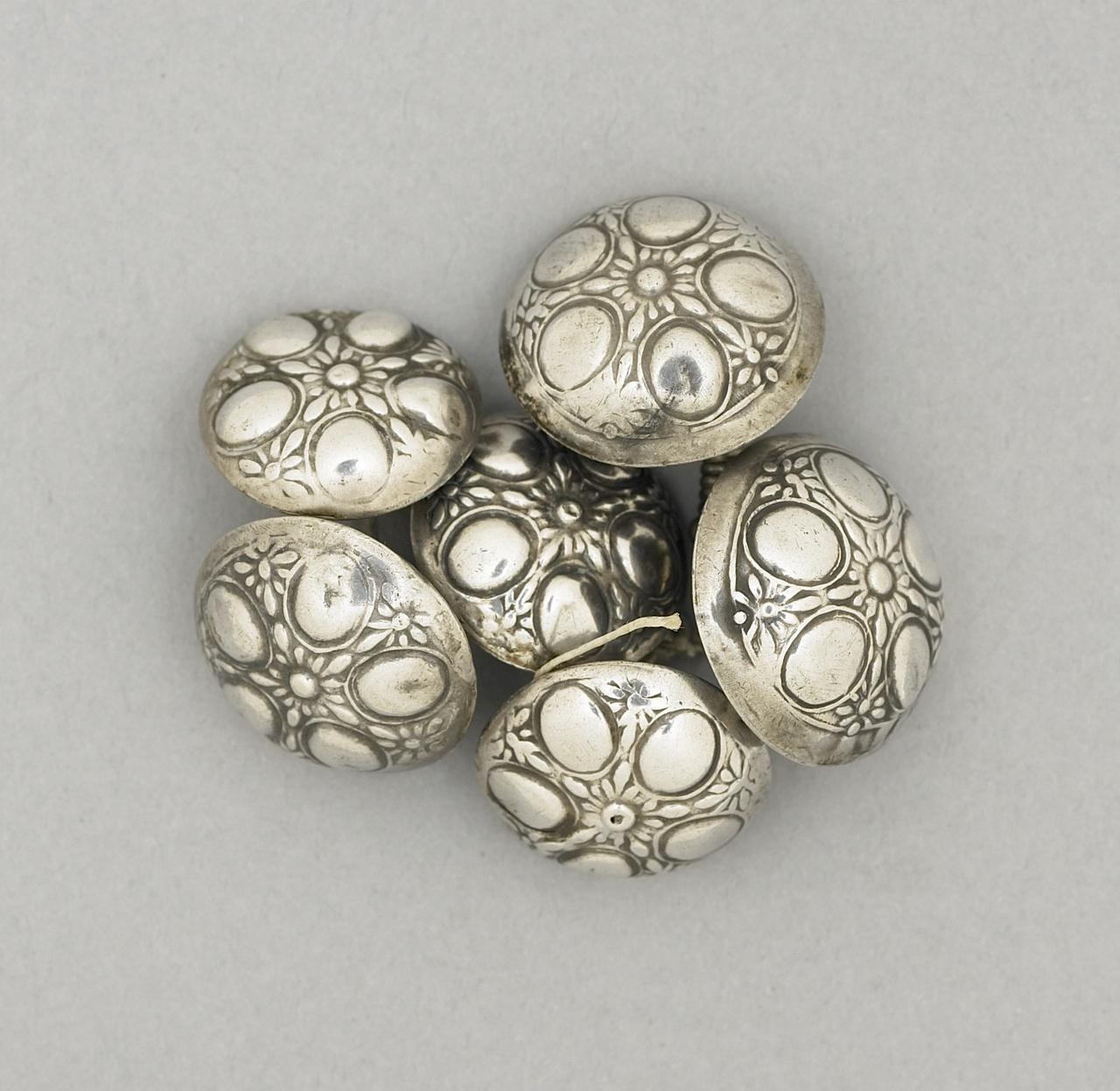 Zes zilveren boerenknopen, Zeeuwse dracht, Cornelis Wendels