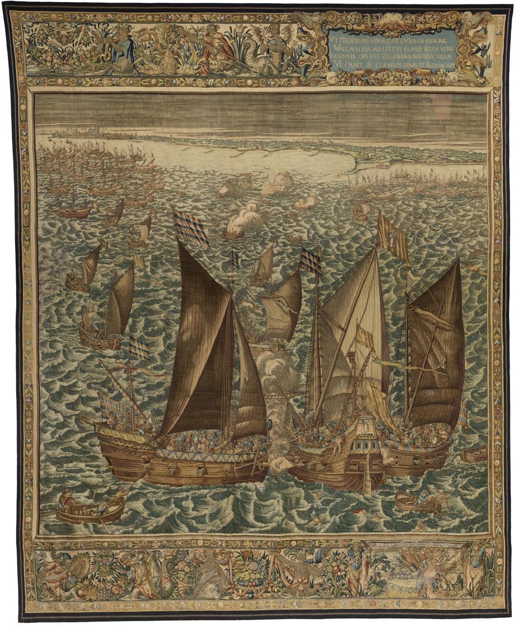 Wandtapijt Beleg van Veere 6-18 mei 1572 (linker tapijt)
