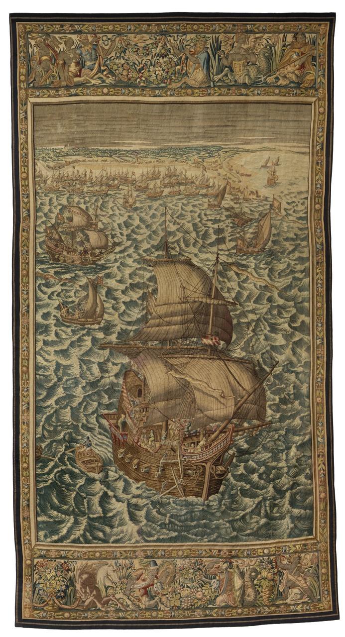 Wandtapijt Beleg van Veere 6-18 mei 1572 (rechter tapijt)