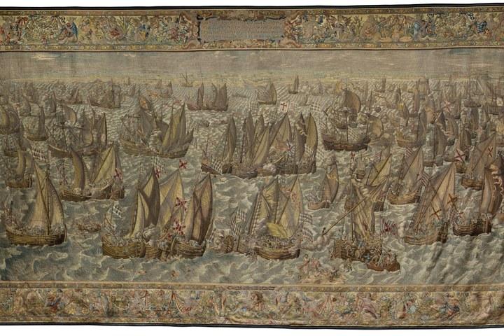 Wandtapijt Slag bij Bergen op Zoom 29 januari 1574