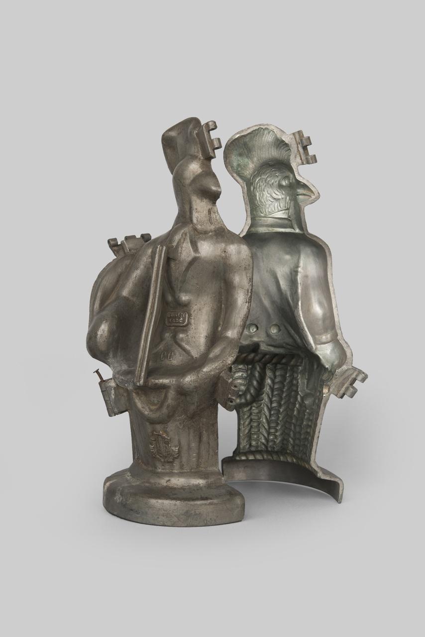Object 15 - mal voor chocolade, tin, Frankrijk, 1800-1900, collectie Zeeuws Genootschap