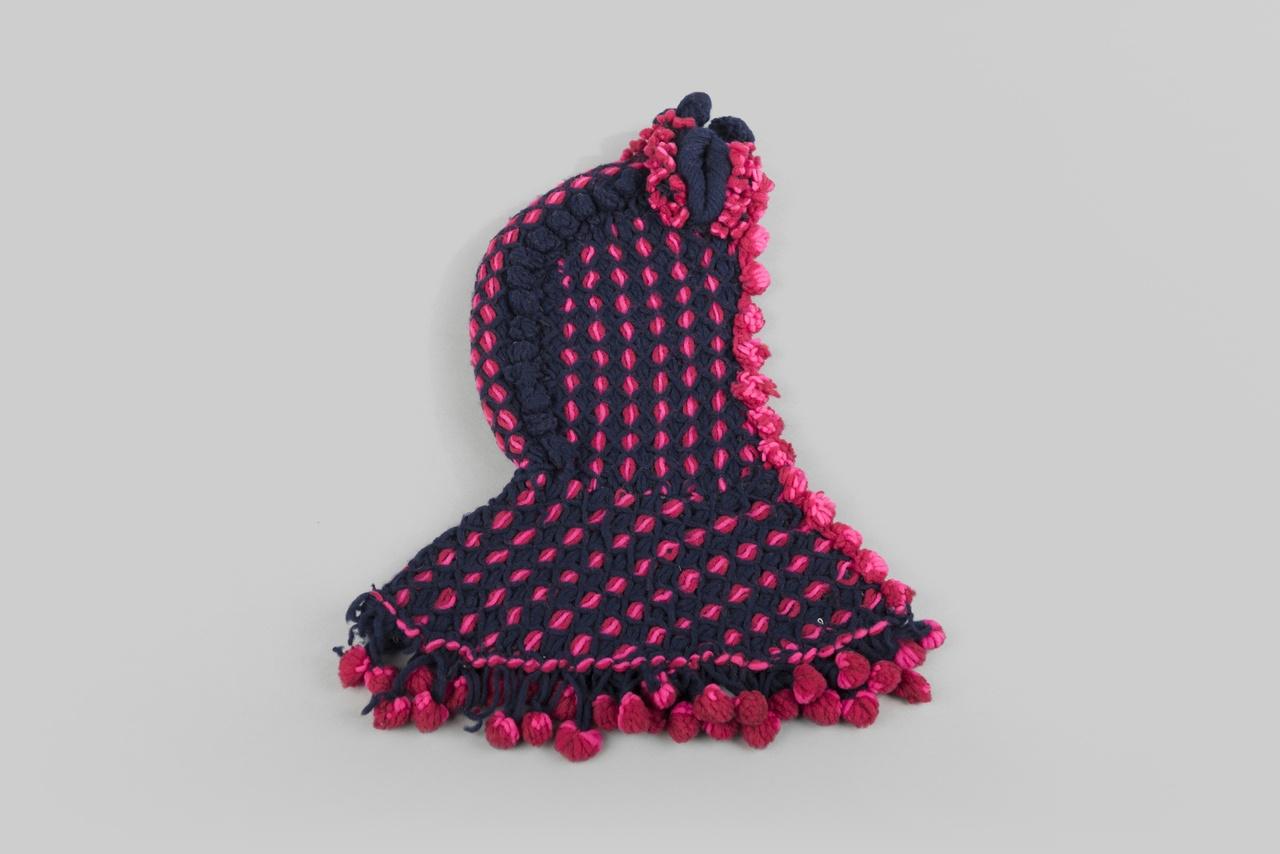 Object 18 - kaper of kindermuts, wol, Zuid-Beveland, 1880-1900, collectie Zeeuws Museum