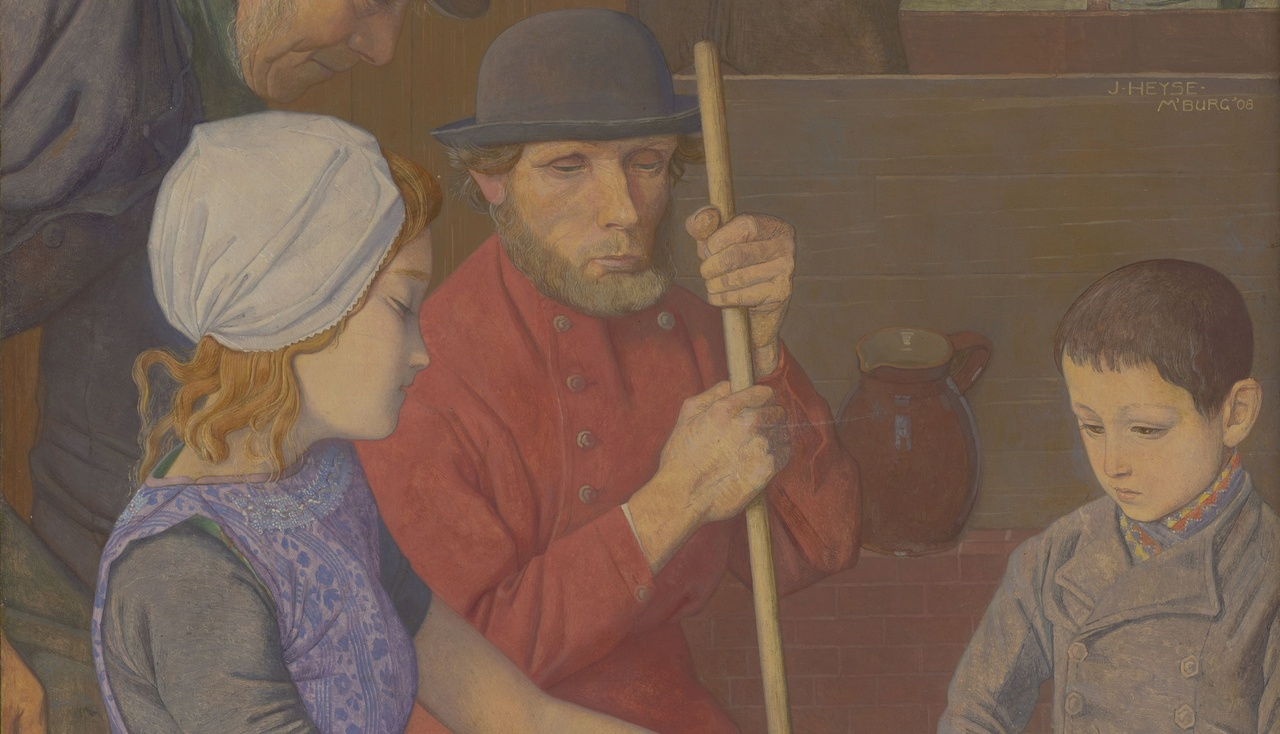 Jan Heyse, Aanbidding van de herders, olieverf op paneel, 1908. Collectie Zeeuws Museum, inv.nr. M12-002, aangekocht met steun van de BankGiro Loterij (2).jpg